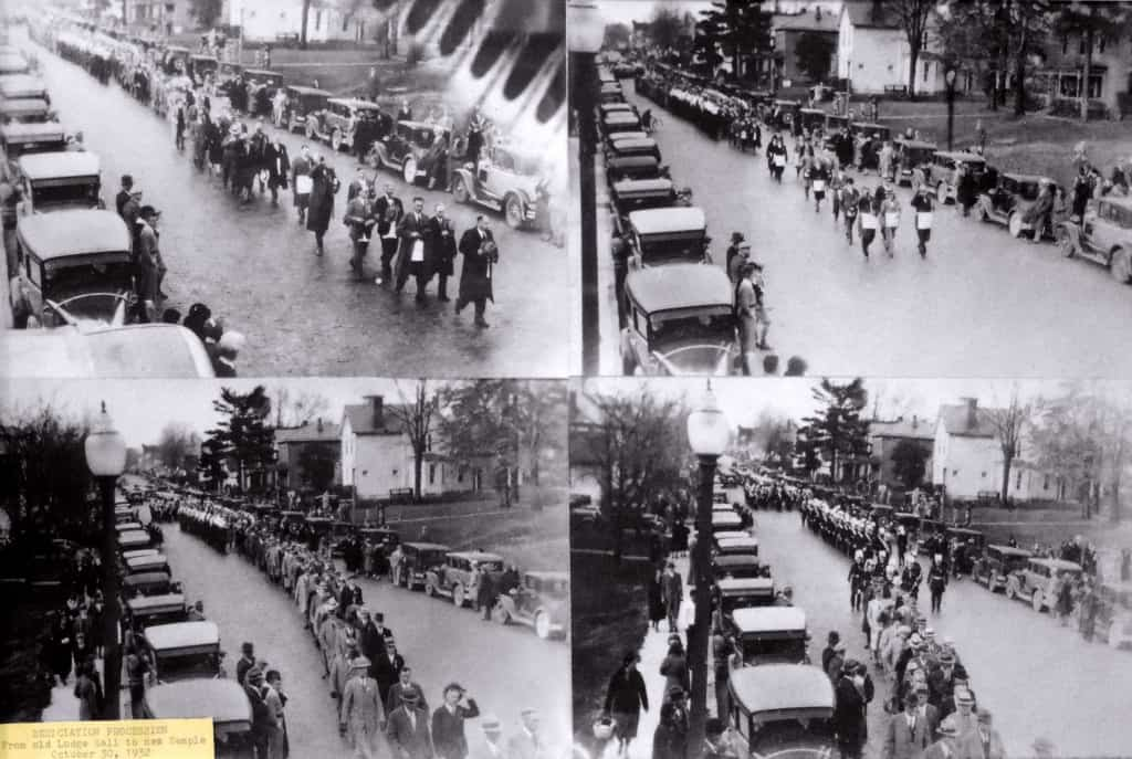 Masonic procession through Westerville, 1930